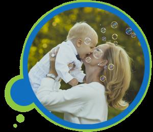 womanandchild happy bubbles