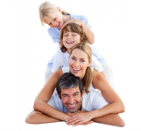 caucasian family pyramid advertising vision insurance in huntington beach, ca