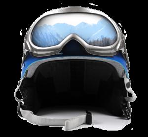 winter ski helmet goggles