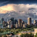 City view of Edmonton, AB