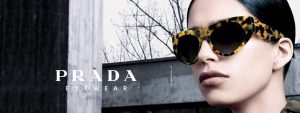 Woman wearing Prada sunglasses