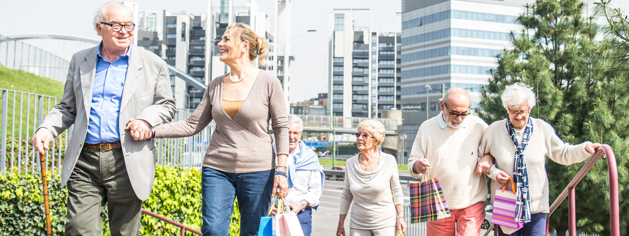 A group of senior walking together, Eye Care in Lancaster, OH