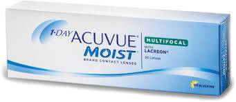 Eye doctor, box of 1 Day Acuvue Moist Multifocal contact lenses in Lancaster, OH