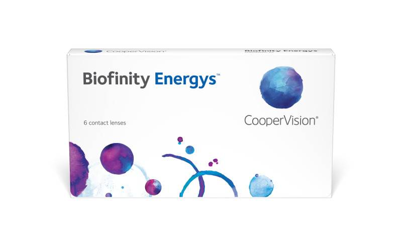 Eye doctor, box of Biofinity Energys Asphere contact lenses in Lancaster, OH