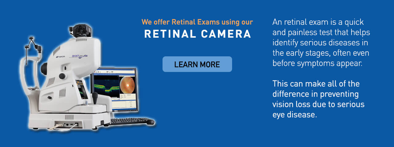 Ad for Retinal Camera and Retinal Exams