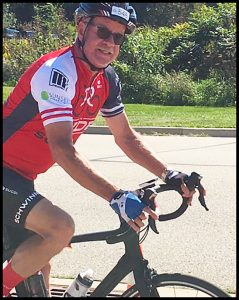 Dr. Wright Riding Bike
