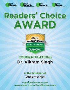 ReaderChoiceAward for Vikram Singh