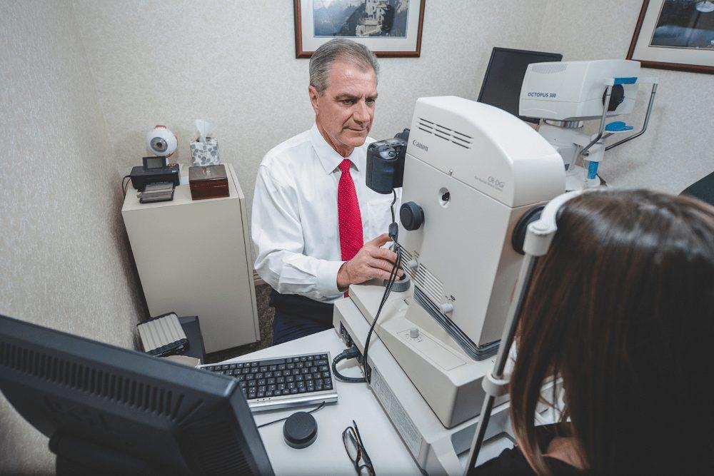 Dr. Holden eye exam