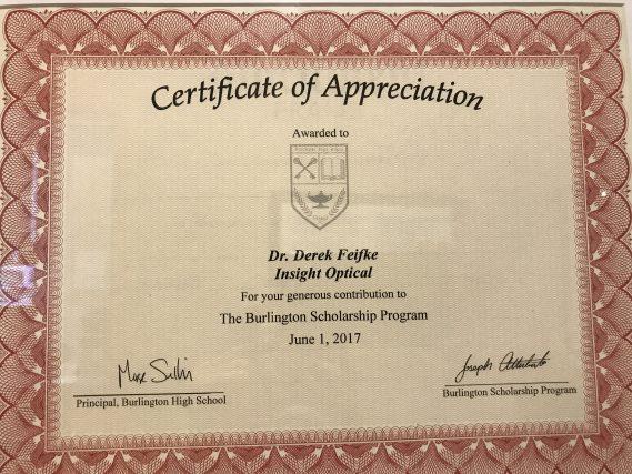certificate scholarship