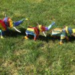 Colorful toy elephants in Burlington, MA