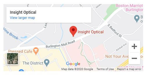 Find Insight Optical in Burlington