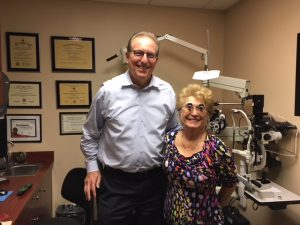 Her favorite low vision doctor