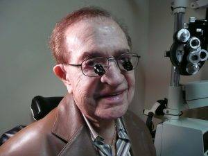 Feeling great with his new telescope glasses