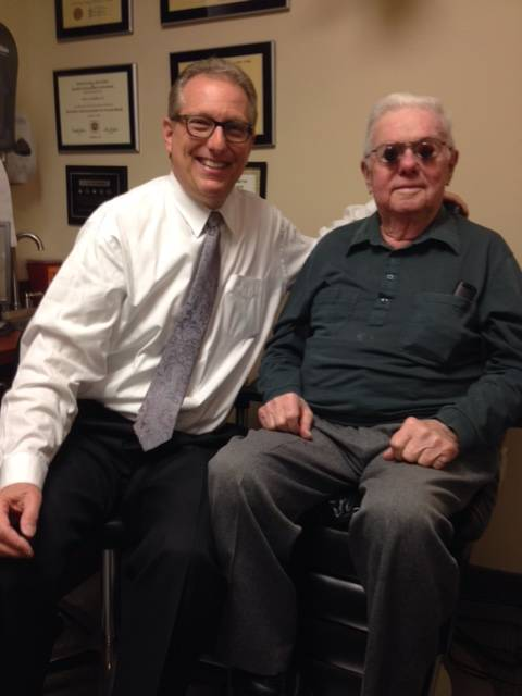 Dr. Schoenbart OD with Low Vision Patient at Schoenbart Vision Care