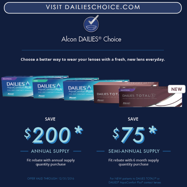 Contact Lens Rebates Offered At Schoenbart Vision Care