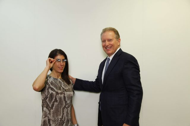Dr. Schoenbart with low vision patient