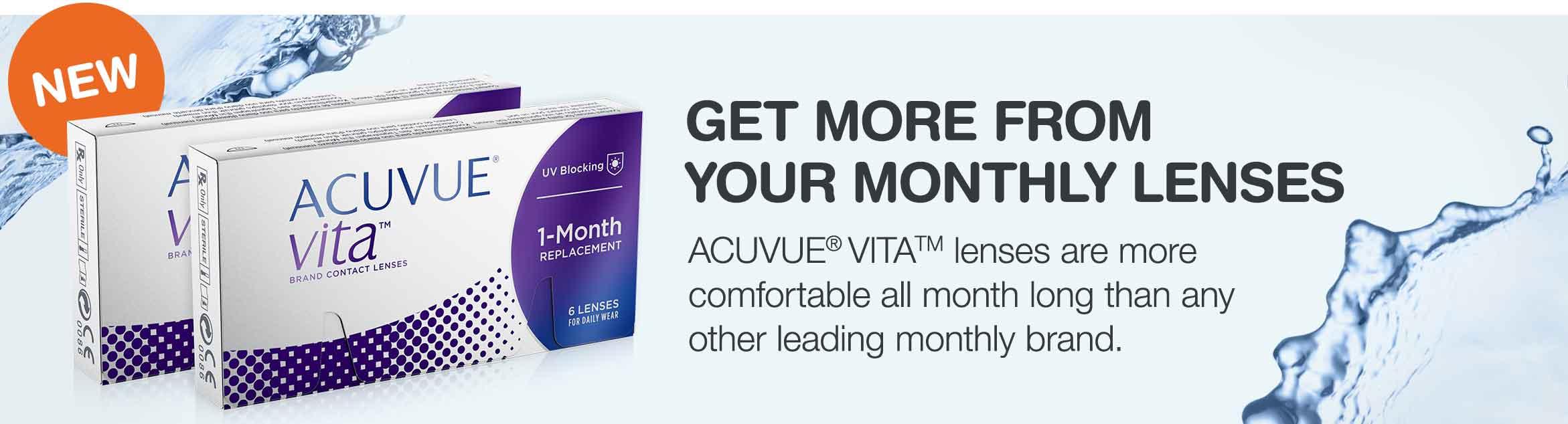 Acuvue Vita contact lens box