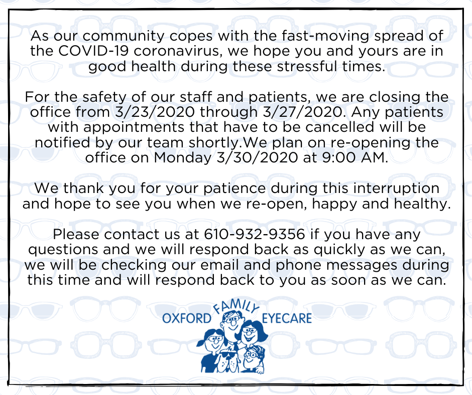 Oxford COVIDClosing