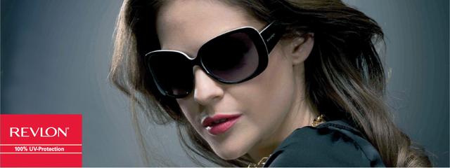 Optometrist, woman wearing Revlon sunglasses in Phoenix, AZ
