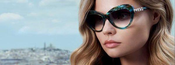 Eye doctor, woman wearing Bulgari sunglasses in Houston, TX