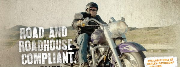 Eye doctor man riding a Harley-Davidson motorcycle in Houston, TX