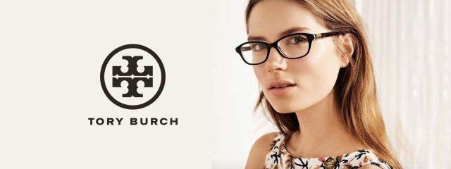 Eye doctor, woman wearing Tory Burch eyeglasses in Houston, TX