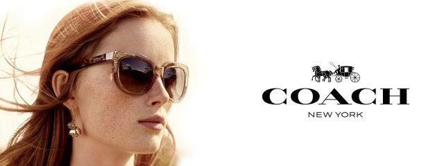 Eye care, woman wearing Coach sunglasses in Houston, TX