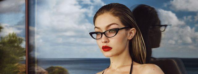 Eye doctor, female model wearing Vogue eyeglasses in Houston, TX