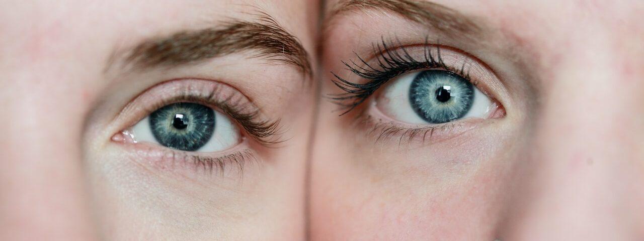 Eye exam, woman closing her eyes in Old Bridge, NJ