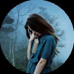 sad girl circle
