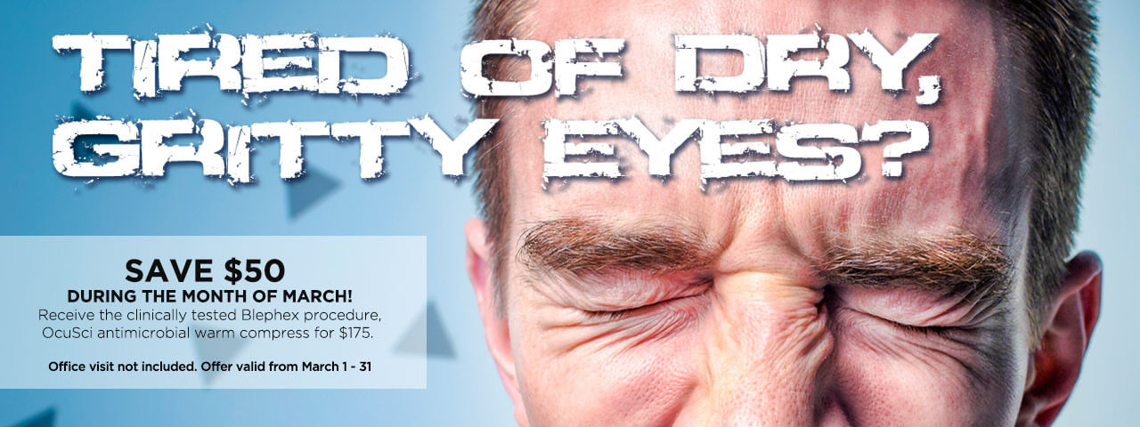 """""""Tired Of Dry, Gritty Eyes?"""" Blephex Ad"""