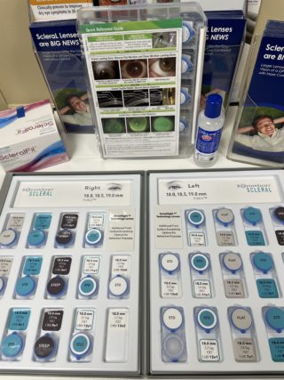 Scleral Lens Set At Sunrise Eye Care