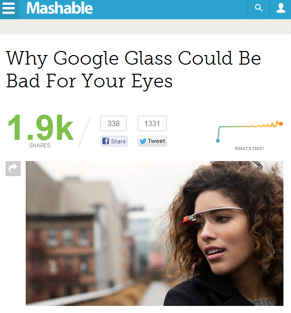 Why Google Glass Could Be Bad For Your Eyes