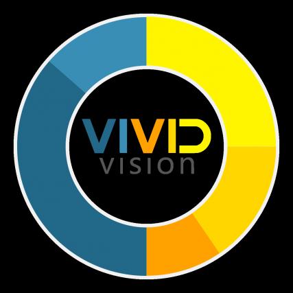 Vivid Vision Logo With Circle