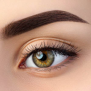 Female eye vision contacts