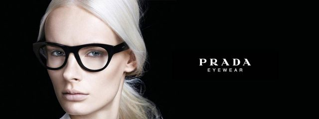 Eye doctor, woman wearing Prada eyeglasses in Waco, TX