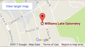 Map to our Williams Lake Eye Clinic