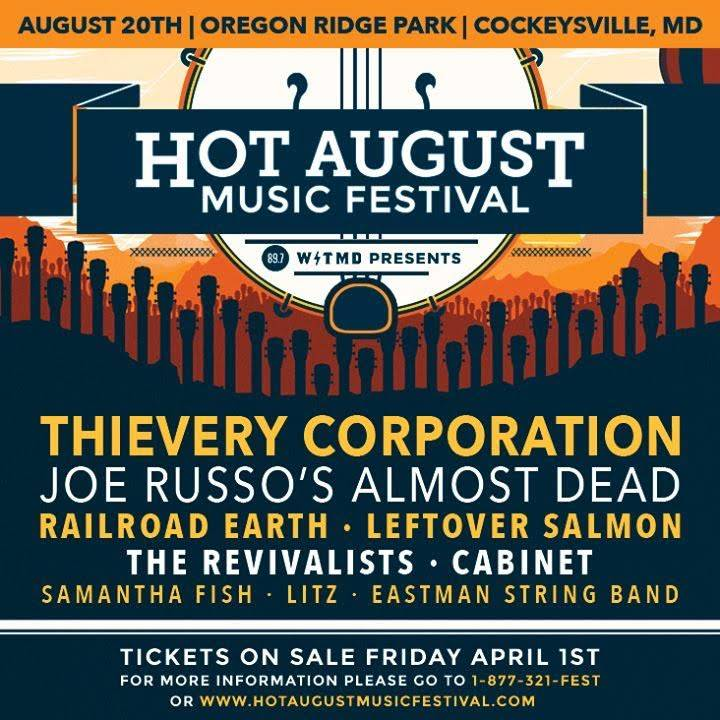 Hot August Music Festival: Aug 20, 2016 | Oregon Ridge Park | Cockeysville MD