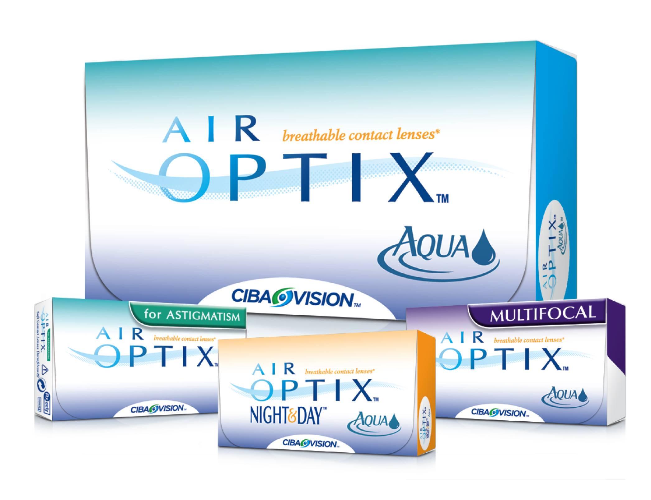 AirOptix contact lenses from optometrist leesburg GA