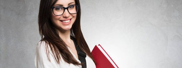 eye doctor, school girl reading her insurance plan in Westerville, OH