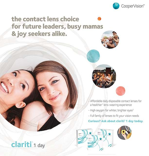 Ad for Clariti contact lenses with women and children - Tacoma, WA