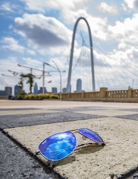 Sunglasses and Dallas Arch