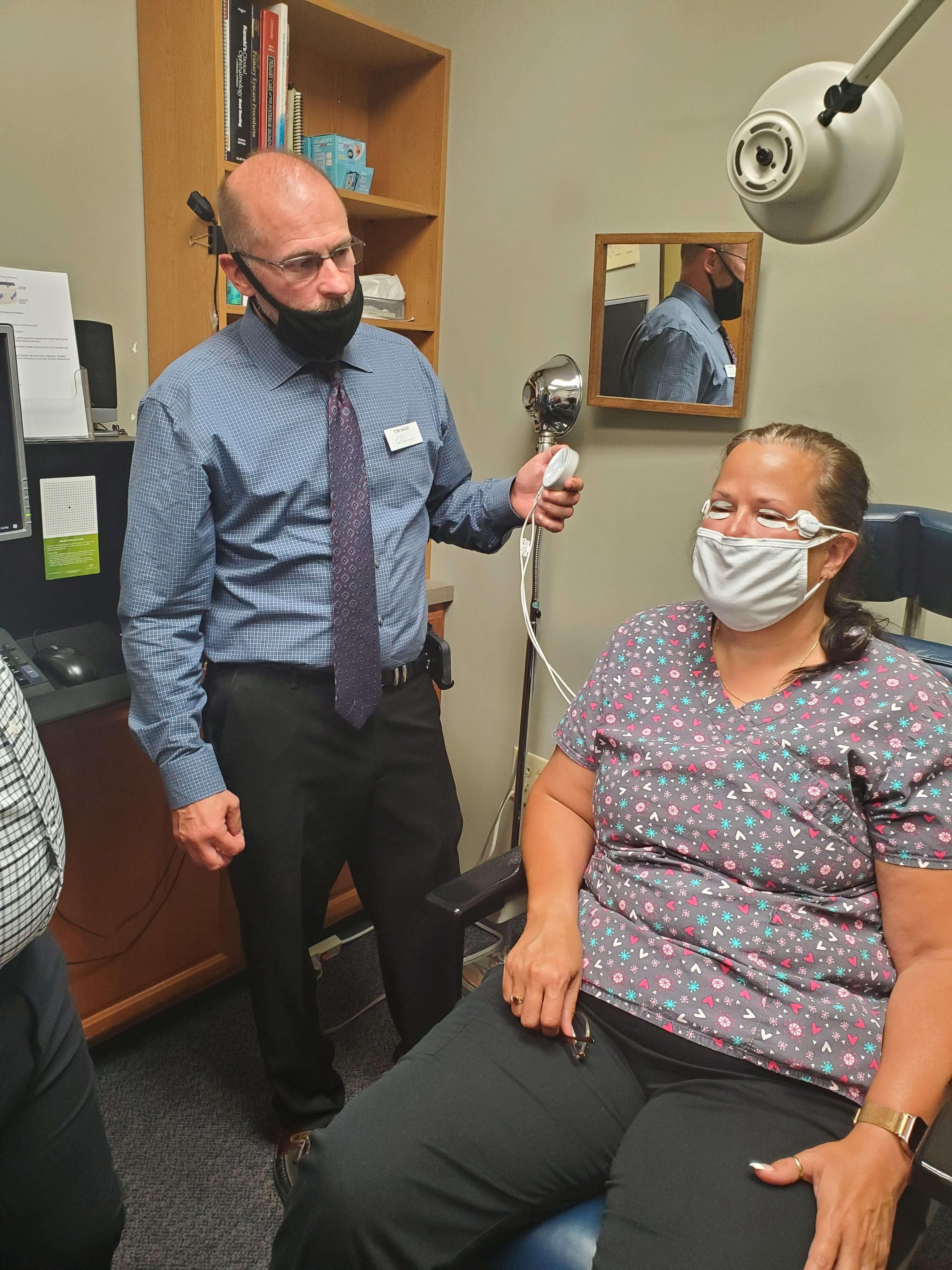 Our Eye Doctor treating dry eyes in Columbus, Ohio