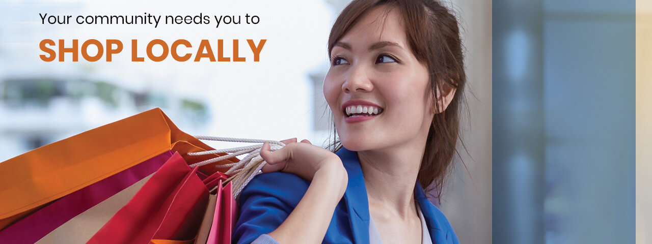 Shop Local Asian Woman Slideshow