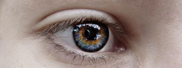 Eye exam, eye woman with irregular cornea in Austin, TX