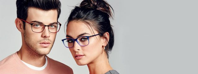 Eye doctor, man and woman wearing eyeglasses in Austin, TX