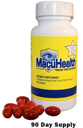 macuhealth bottle for macular Degeneration in Austin, Cedar Park & Round Rock, TX