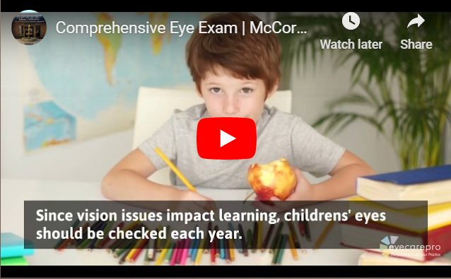 Video comprehensive eye exam in Austin, Texas
