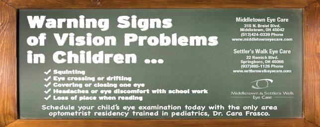 4310f9f7e213 Children often do not know they are seeing poorly and many vision problems  do not have signs that alert parents of a problem.
