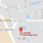 Map of Lakeville Family Eye Care Center